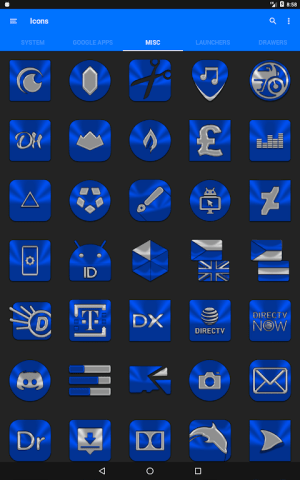 Blue Icon Pack ✨Free✨ 3.8 Screen 21