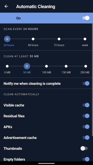 CCleaner: Cache cleaner, RAM cleaner, Booster 5.3.0 Screen 1