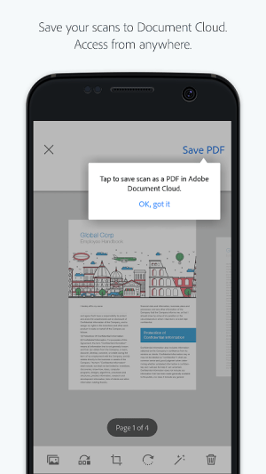 Adobe Scan: PDF Scanner, OCR 18.07.17 Screen 2