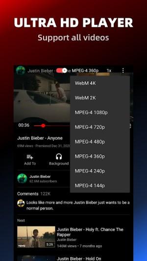 Pure Tuber - Block Ads for Video, Free Premium 2.13.6.102 Screen 4