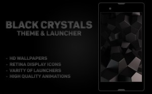 Black Crystal Theme & Launcher 1.0 Screen 4