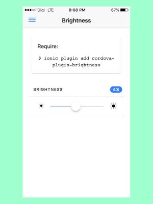 Ionic Native 2.1.1 Screen 1