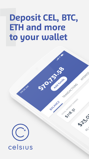 Celsius Network – Crypto Wallet: Earn Interest Now 2.6.2 Screen 2