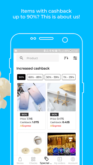 Android Backit cashback: eBay, Aliexpress and 900+ shops Screen 2