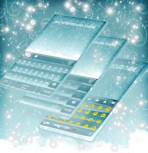 Snow Keyboard Theme 1.279.13.30 Screen 1