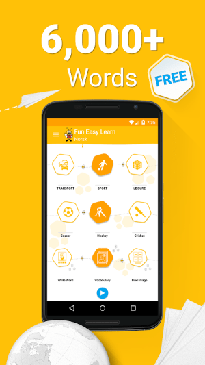 Android Learn Norwegian - 6000 Words - FunEasyLearn Screen 3