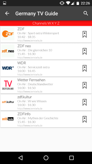 Germany Live TV Guide 4.0 Screen 5
