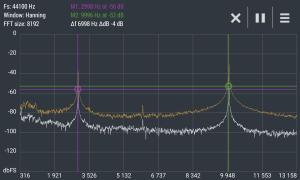 Advanced Spectrum Analyzer PRO 2.1 Screen 2