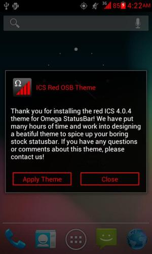 Android ICS Red OSB Theme Screen 6