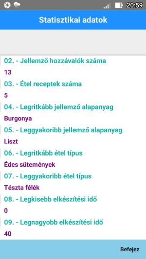 Android Étel Recept Nyilvántartó Screen 5