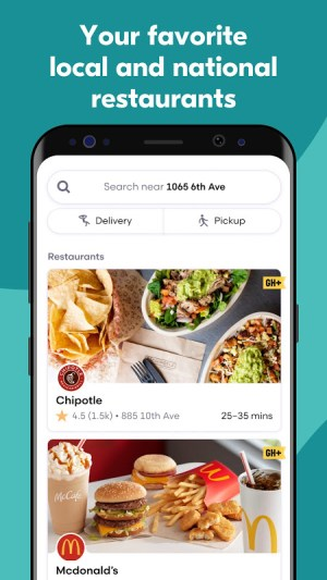 Grubhub: Local Food Delivery & Restaurant Takeout 7.157 Screen 1