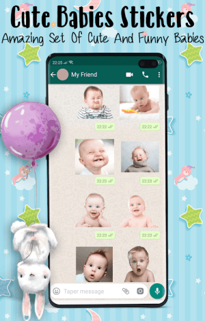 👶 Babies Stickers for WhatsApp 2021 1.8 Screen 1