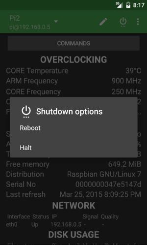 RasPi Check 1.8.12 Screen 2