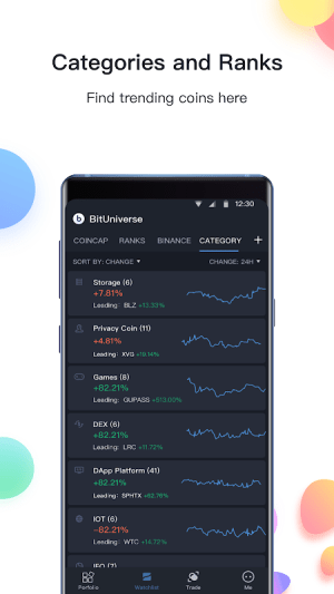 Android BitUniverse - Crypto Portfolio & Grid Trading Bot Screen 3