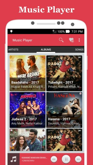 Android Music Player Screen 3