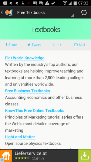 Download Free ebooks Android 1.0 Screen 4