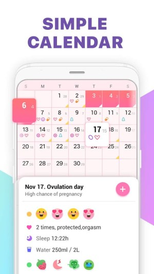 Period Tracker, Ovulation Calendar & Fertility app 1.41 Screen 3