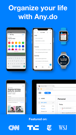 Android To Do List, Planner, Calendar & Reminders Screen 1