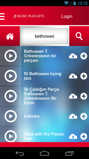 Android Music Player , MP3 Downloader Screen 2