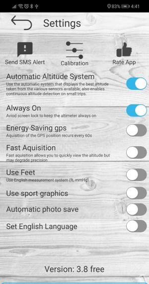 Altimeter free 4.50 Screen 7
