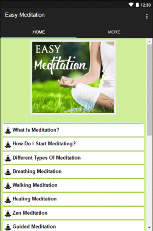 Android Easy Meditation Screen 1