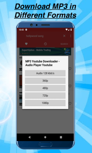 Android MP3 Youtube Downloader - Audio Player Youtube Screen 1
