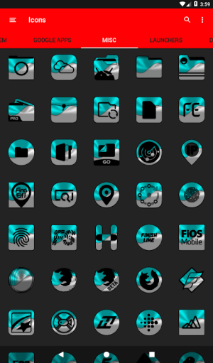 Half Light Cyan Icon Pack Free 2.3 Screen 17