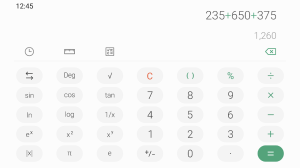 Samsung Calculator 4.0.633652 Screen 2