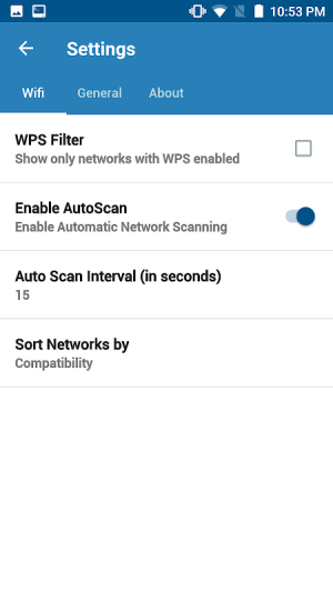 Android WIFI WPS WPA TESTER Screen 6
