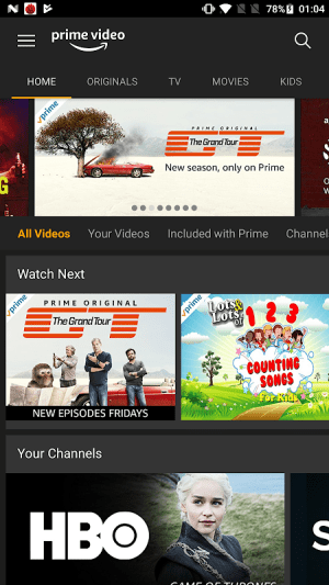 Amazon Prime Video 3.0.256.46242 Screen 1