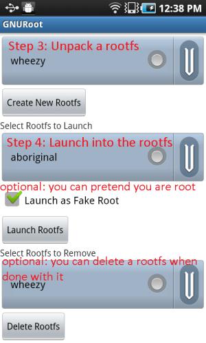 GNURoot 0.1.5 Screen 2