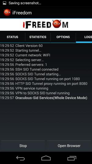 iFreedom v2 9.9 Screen 2