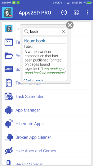 Floating Dictionary 1.2 Screen 7