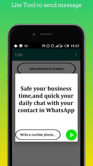 Open for whatsapp lite 1.11 Screen 2