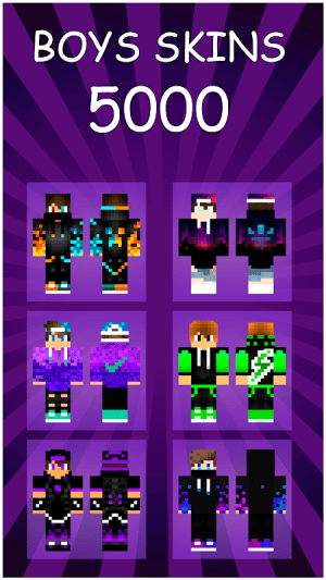 Boys Skins For Minecraft PE 1.0 Screen 1