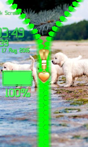 Puppy Zipper Lock Screen 1.2 Screen 4