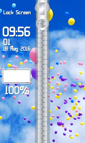 Balloon Zipper Lock Screen 1.2 Screen 3