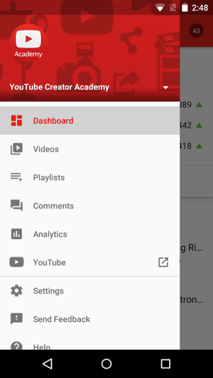 YouTube Creator Studio 17.23.300 Screen 2