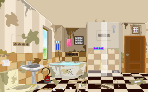 Android 3D Escape Messy Bathroom Screen 15