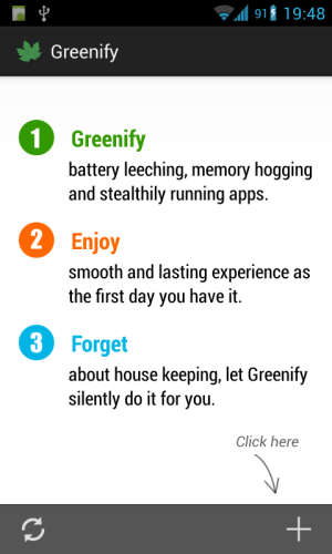 Android Greenify (Donation Package) Screen 1