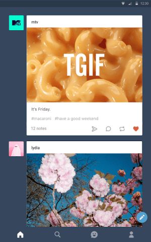Tumblr 15.1.2.02 Screen 1