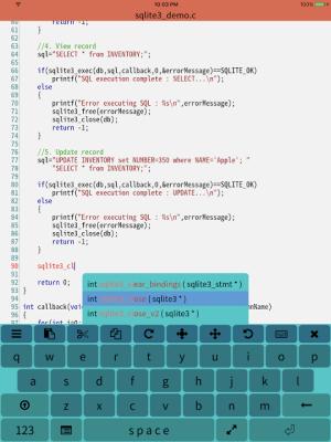 Mobile C ( C/C++ Compiler ) 2.2.5 Screen 6