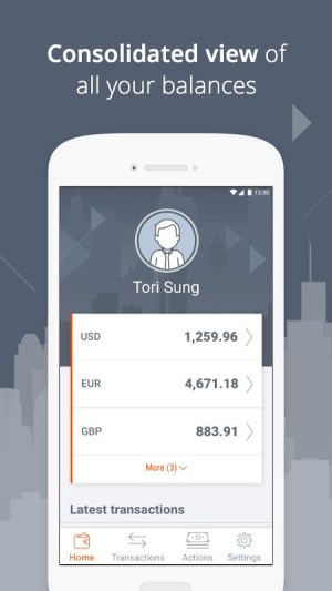 Payoneer – Global Payments Platform 5.2.0 Screen 2