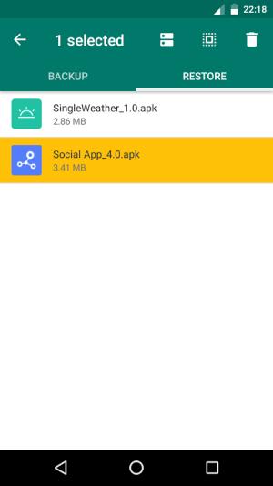 APK Backup 2.2 Screen 6