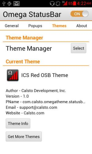 Android ICS Red OSB Theme Screen 5