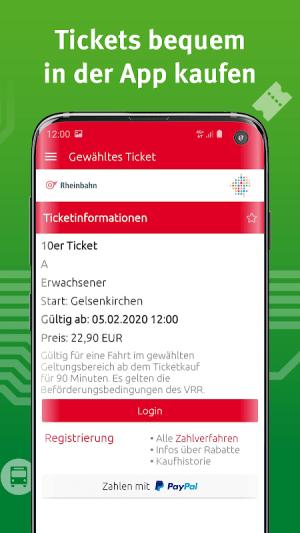VRR-App - Fahrplanauskunft 5.37.14418 Screen 4