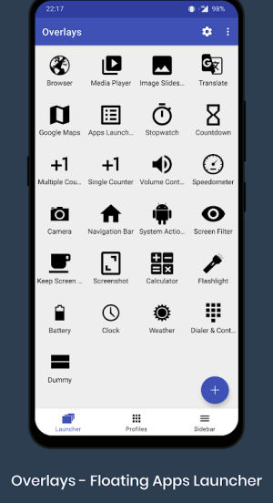 Overlays - Floating Apps Launcher 7.2.3 Screen 6