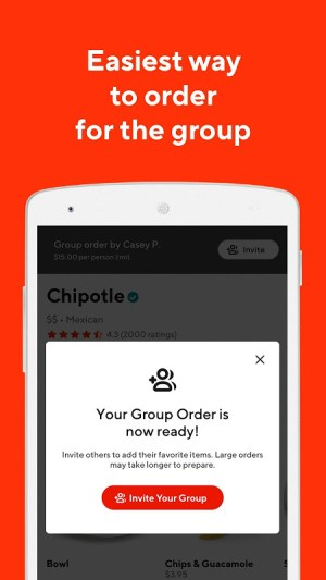 Android DoorDash - Food Delivery Screen 3
