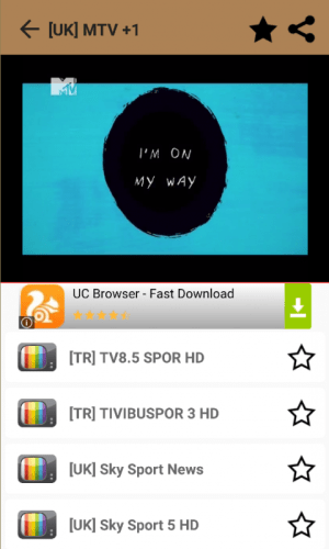 Android Play Live TV Screen 5