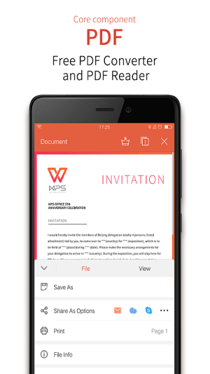 Android WPS Office + PDF Screen 4